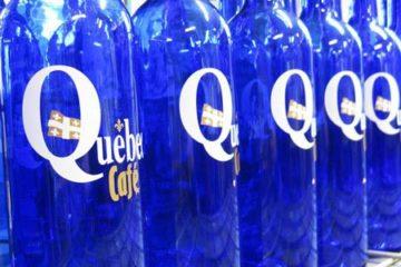 bouteille personnalisée en verre sérigraphie bordeaux