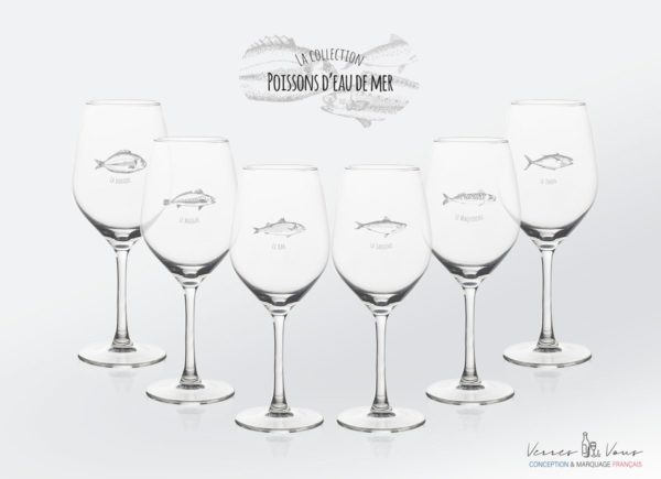 verre vitus collection poisson de mer